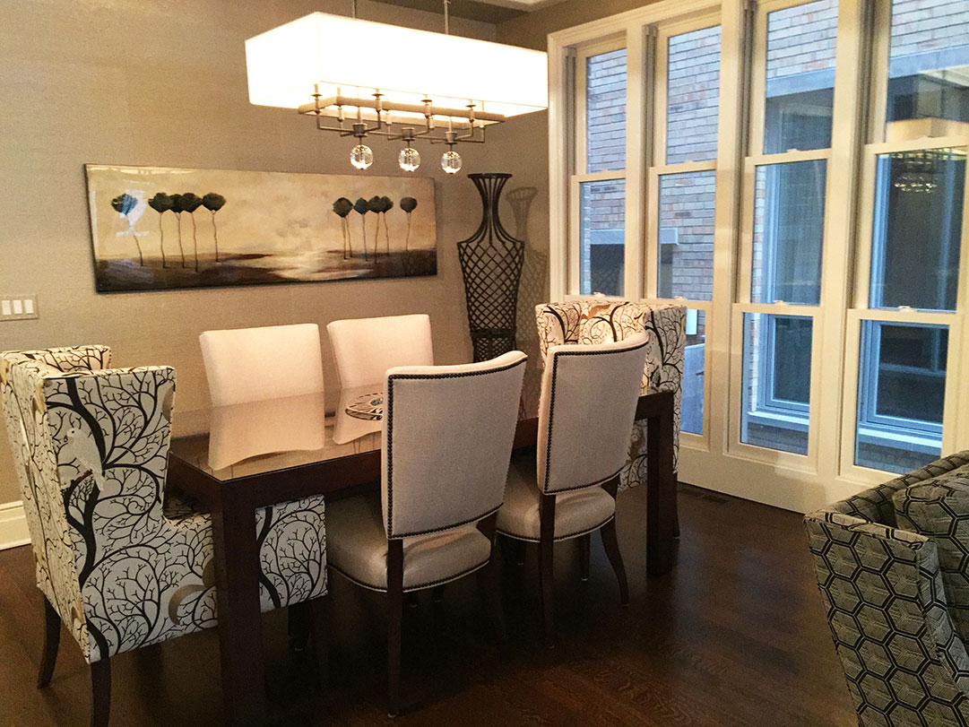 New Home Construction Ideas Part - 44: Chicago Home New Construction Dining Room