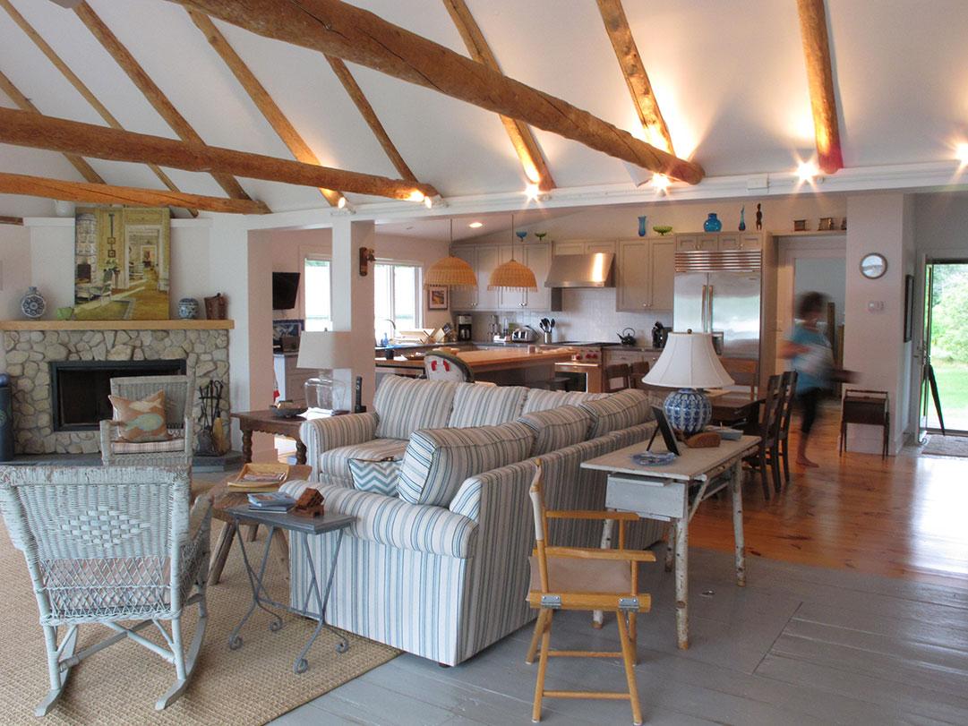 Door County Cottage Rehab Living Room
